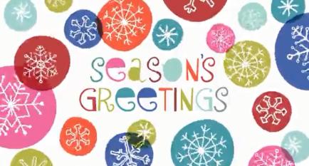 season's greetings thank you